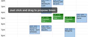 Propose meeting times
